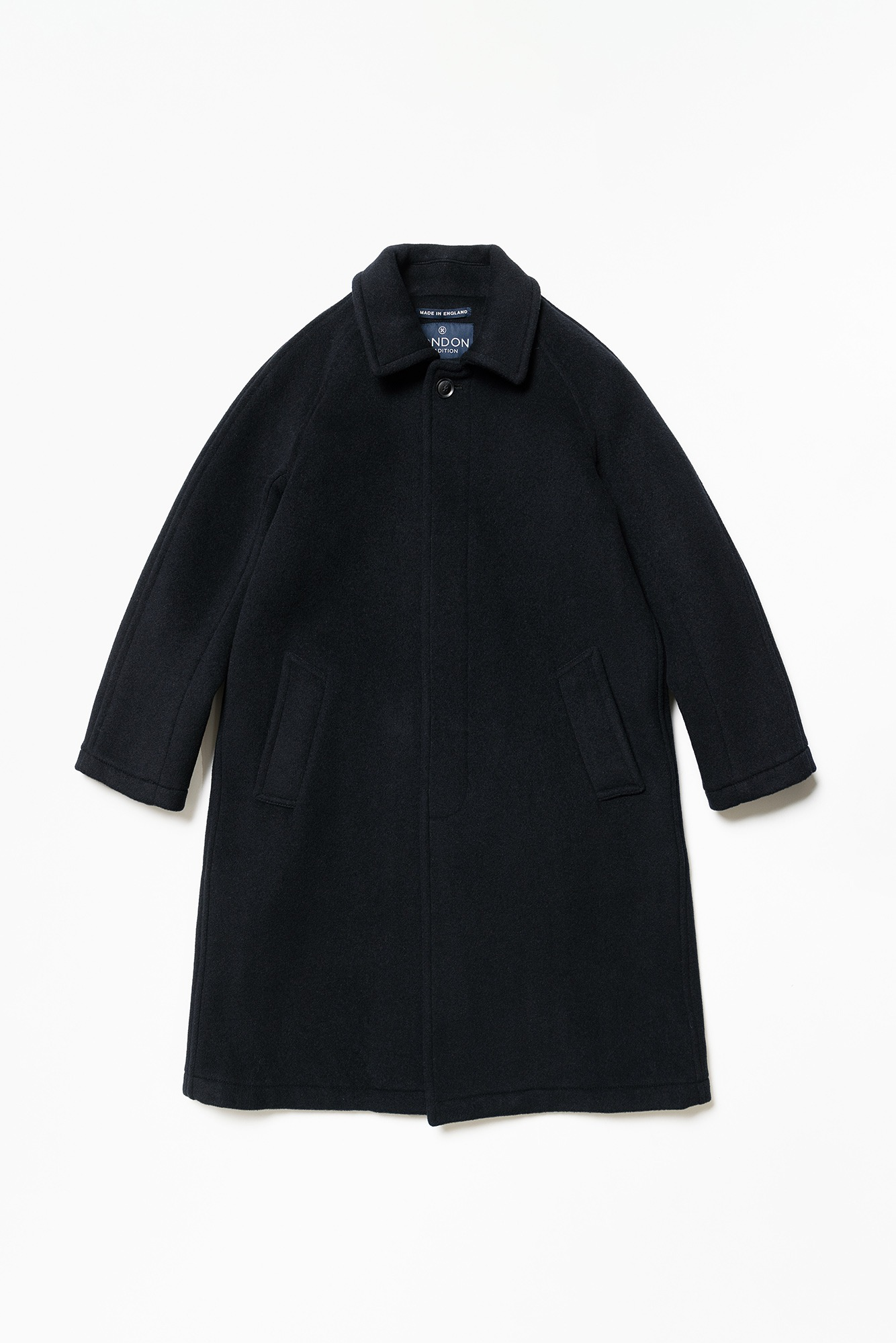 "LONDON TRADITION Mens R06 Fly Front Coat ""Navy SBB"""