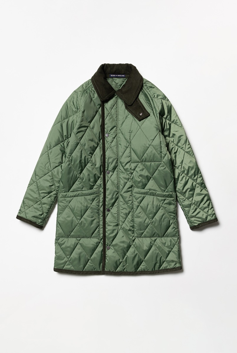 "LONDON TRADITION Connor Mens Quilt With Zip ""Green Sward"""