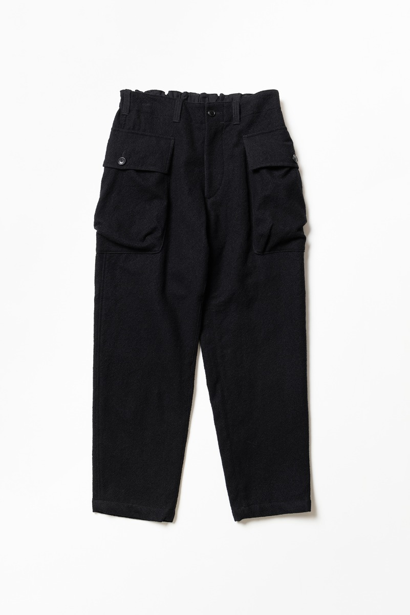 "SAGE DE CRET Length Military Trousers ""Black"""