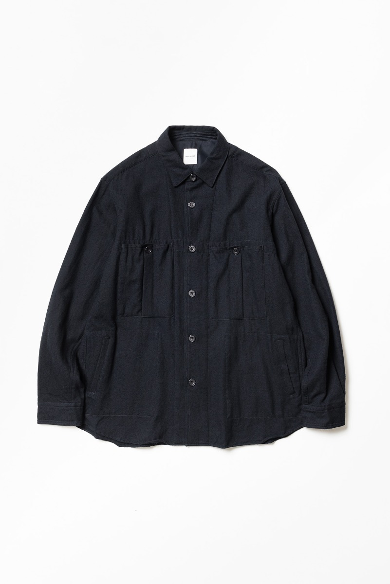 "SAGE DE CRET Shirt Jacket ""Navy"""