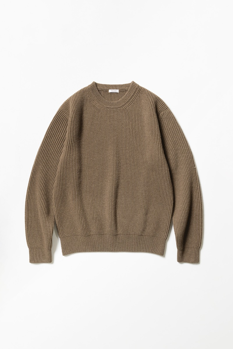"TRICOTER Chunky Ribbed Full Sweater ""Dark Cocoa"""