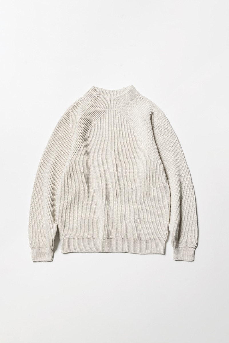 "BATONER Signature Mock Neck ""Ivory"""