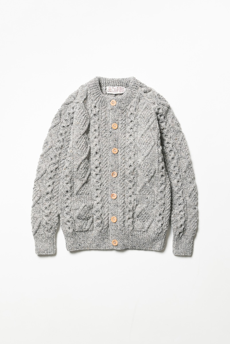 "ATHENA DESIGNS 2S Crewneck Cardigan ""Grey Mix"""