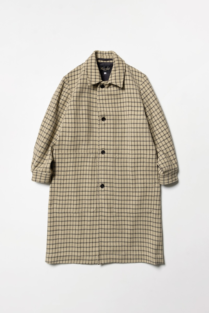 "HAVERSACK Tartan Tweed Atelier Coat ""Beige"""