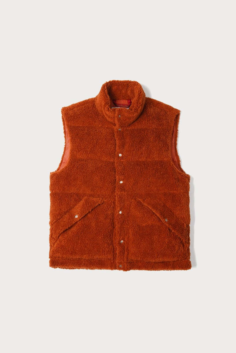 "HOLUBAR Deep Powder Fleece Vest ""Dark Orange"""