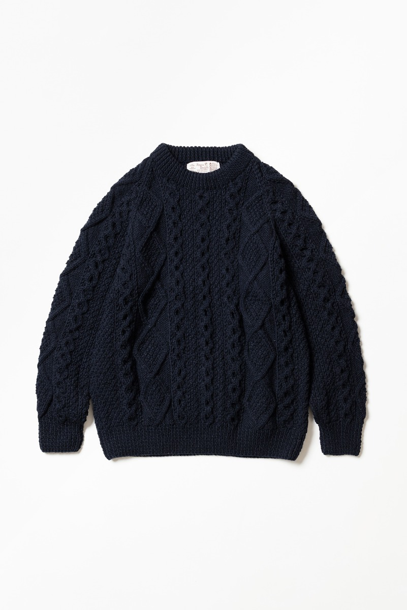 "ATHENA DESIGNS 2S Crew Sweater ""Navy"""