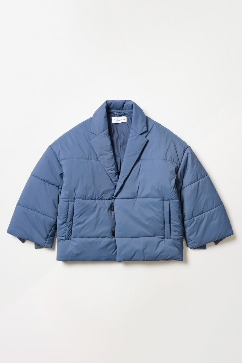 "A.A.Spectrum Cocoon Padded Blazer Jacket ""Stone Blue"""