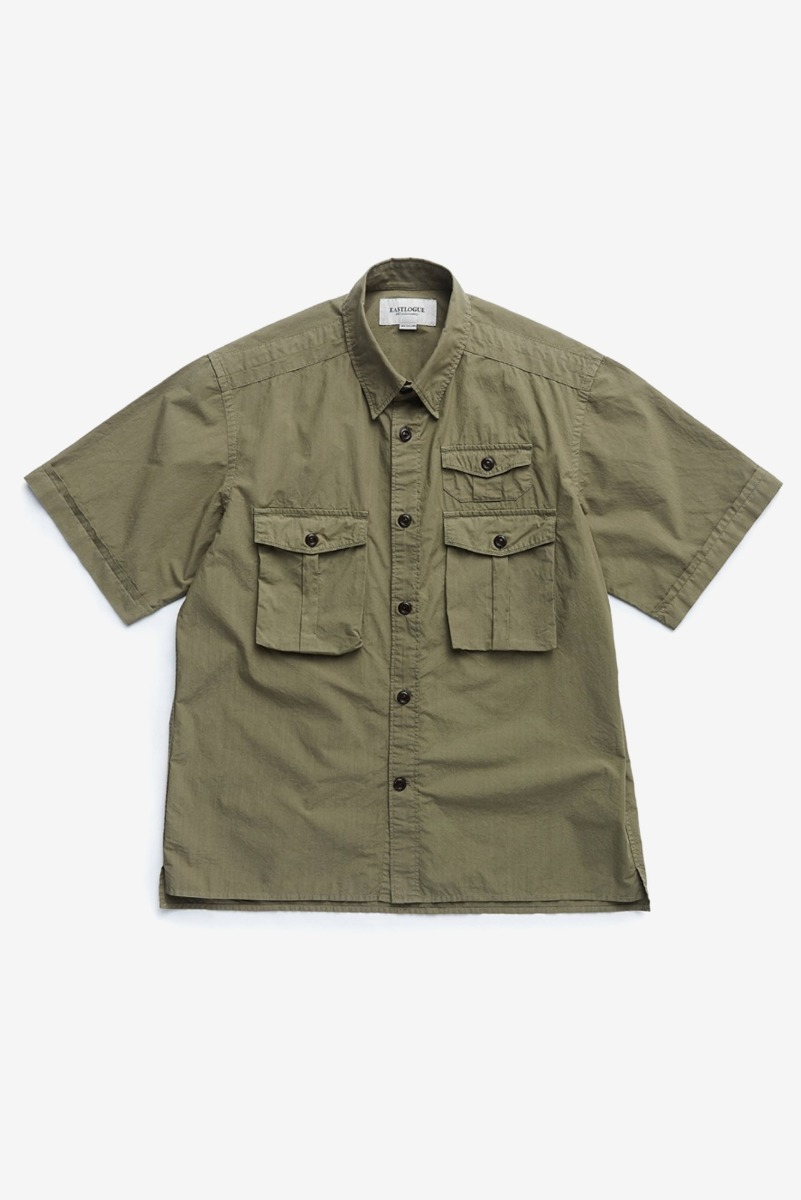 "EASTLOGUE Dyed Olive Boyscout Shirt ""Dyed Olive"""