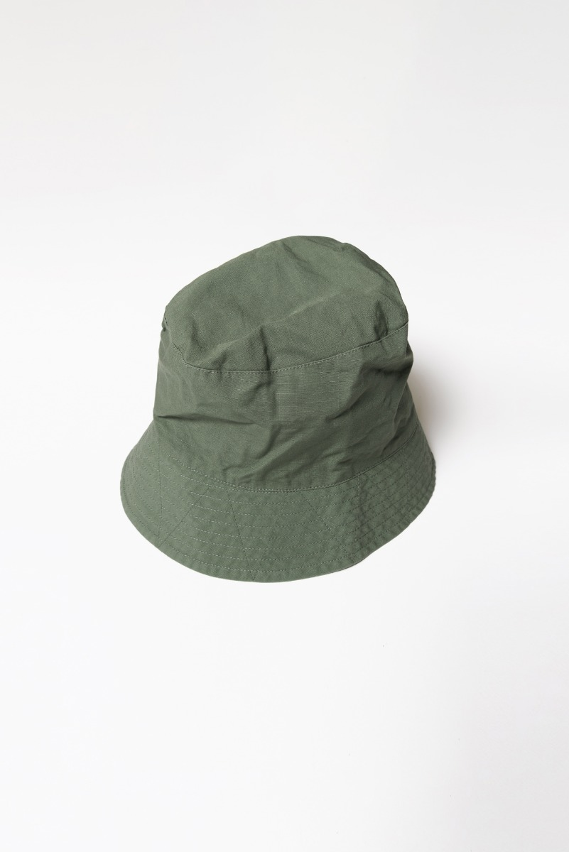 "ENGINEERED GARMENTS Bucket Hat ""Olive Cotton Ripstop"""