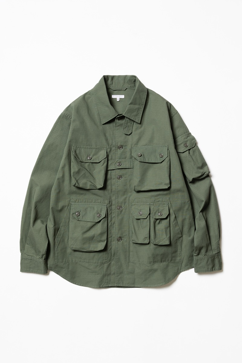 "ENGINEERED GARMENTS Explorer Shirt Jacket ""Olive Cotton Ripstop"""