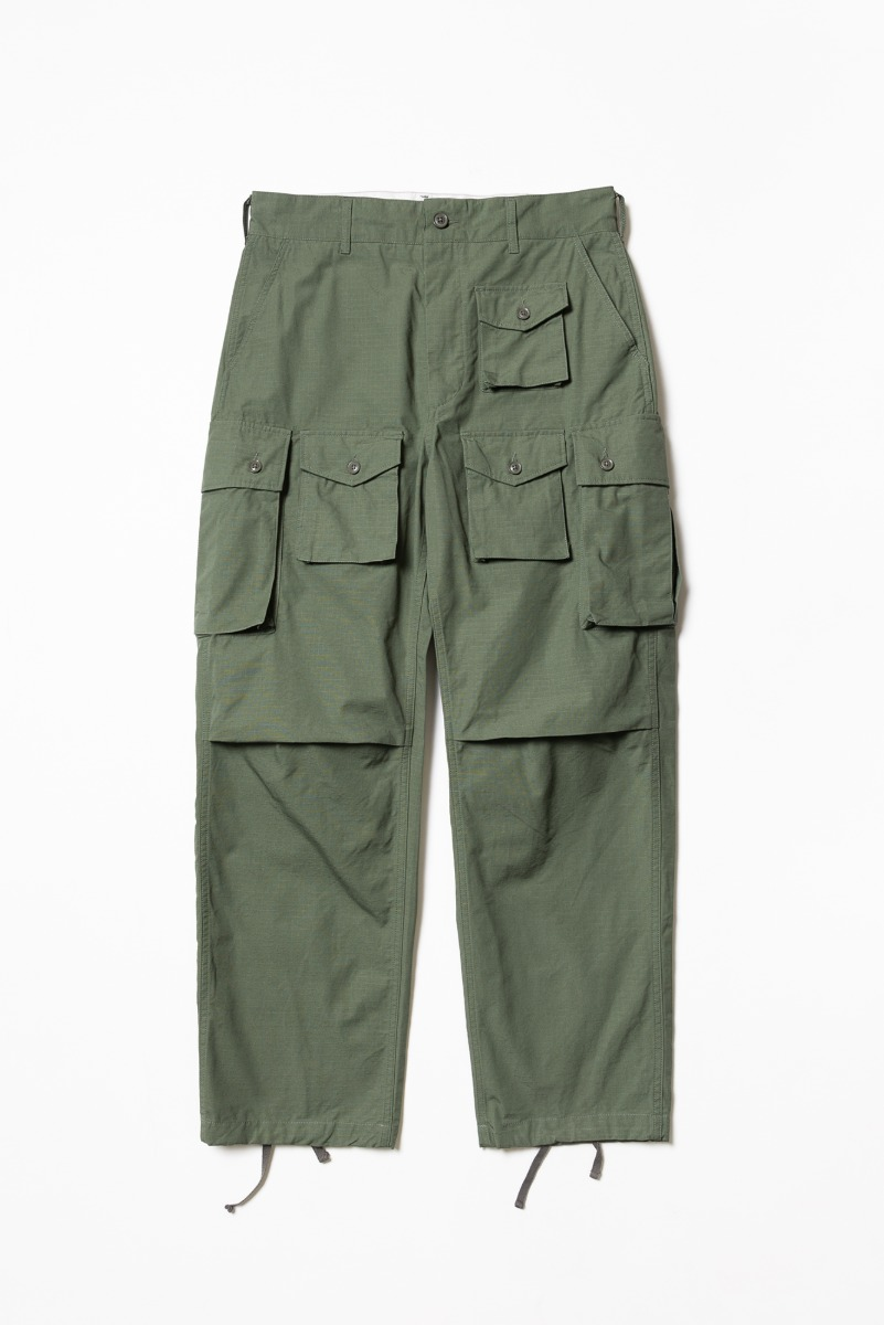 "ENGINEERED GARMENTS FA Pant ""Olive Cotton Ripstop"""