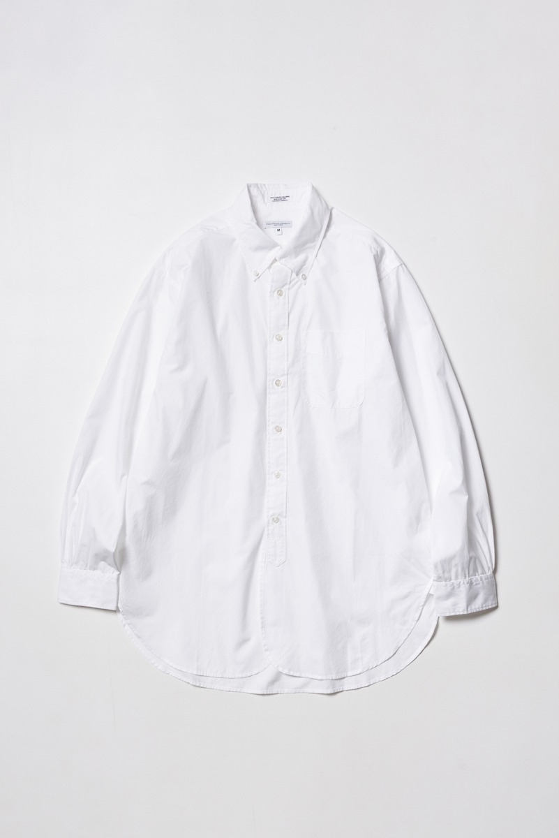 "ENGINEERED GARMENTS 19 Century BD Shirt ""White 100's 2Ply Broadcloth"""