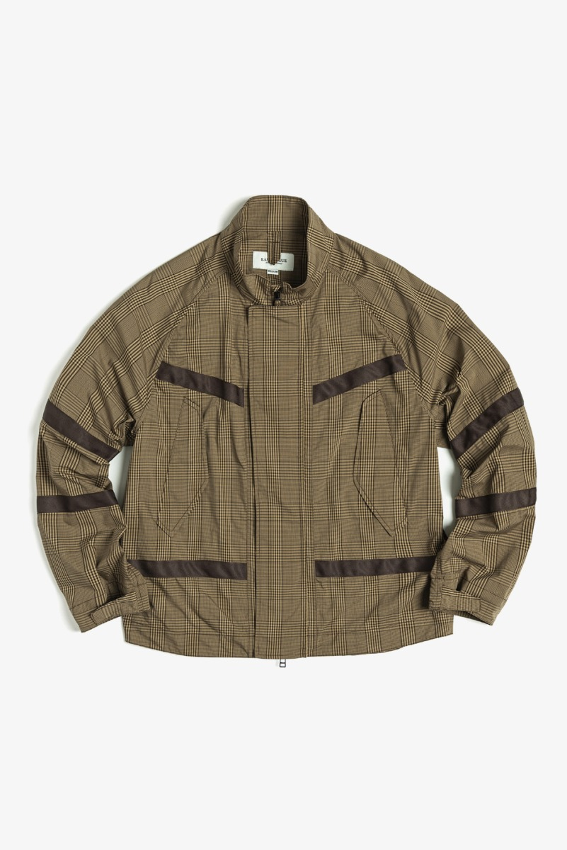 "EASTLOGUE Flight Jacket ""Beige & Black Check"""