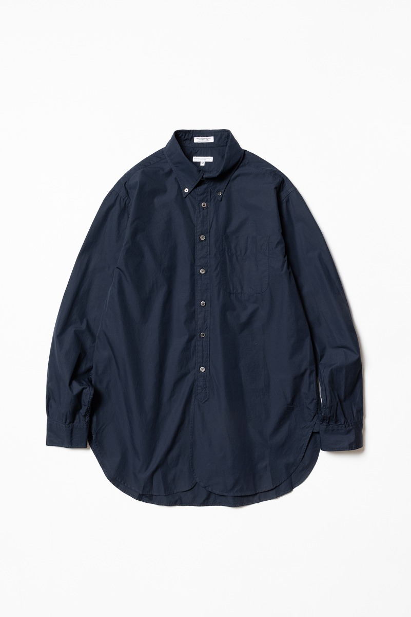 "ENGINEERED GARMENTS 19 Century BD Shirt ""Dk. Navy 100's 2Ply Broadcloth"""