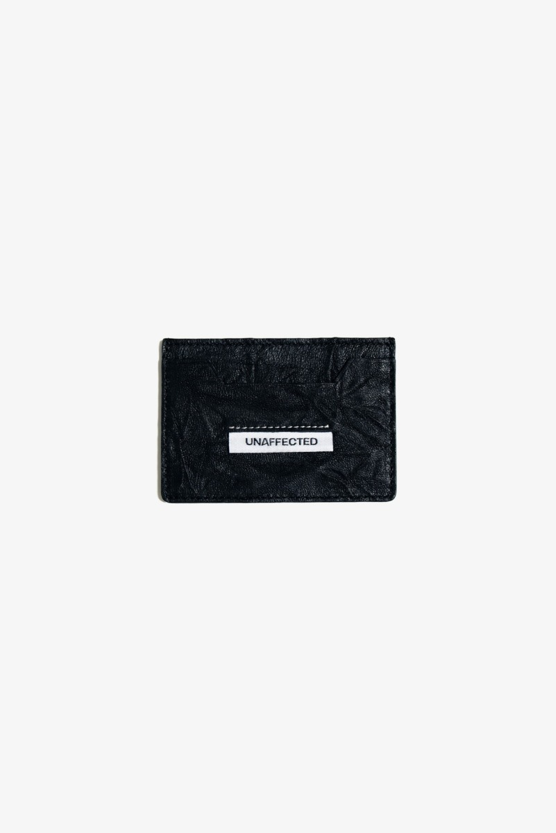 "UNAFFECTED Logo Label Card Holder ""Black"""