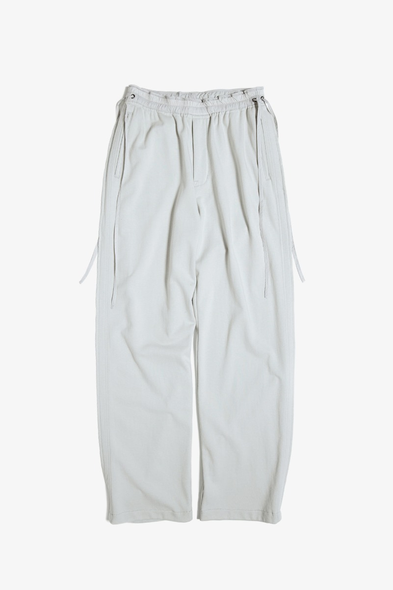 "UNAFFECTED Raw Edged Cut Pants ""Light Grey"""
