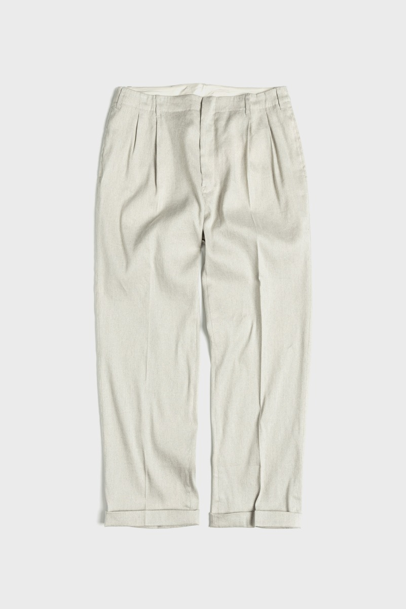 "UNAFFACTED Two Tuck Wide Pants ""Ecru"""