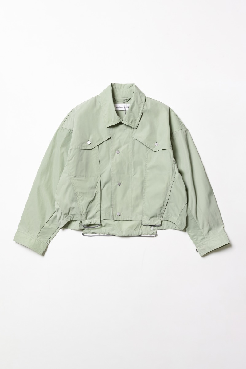 "A.A SPECTRUM Trucker Jacket ""Silver Green"""