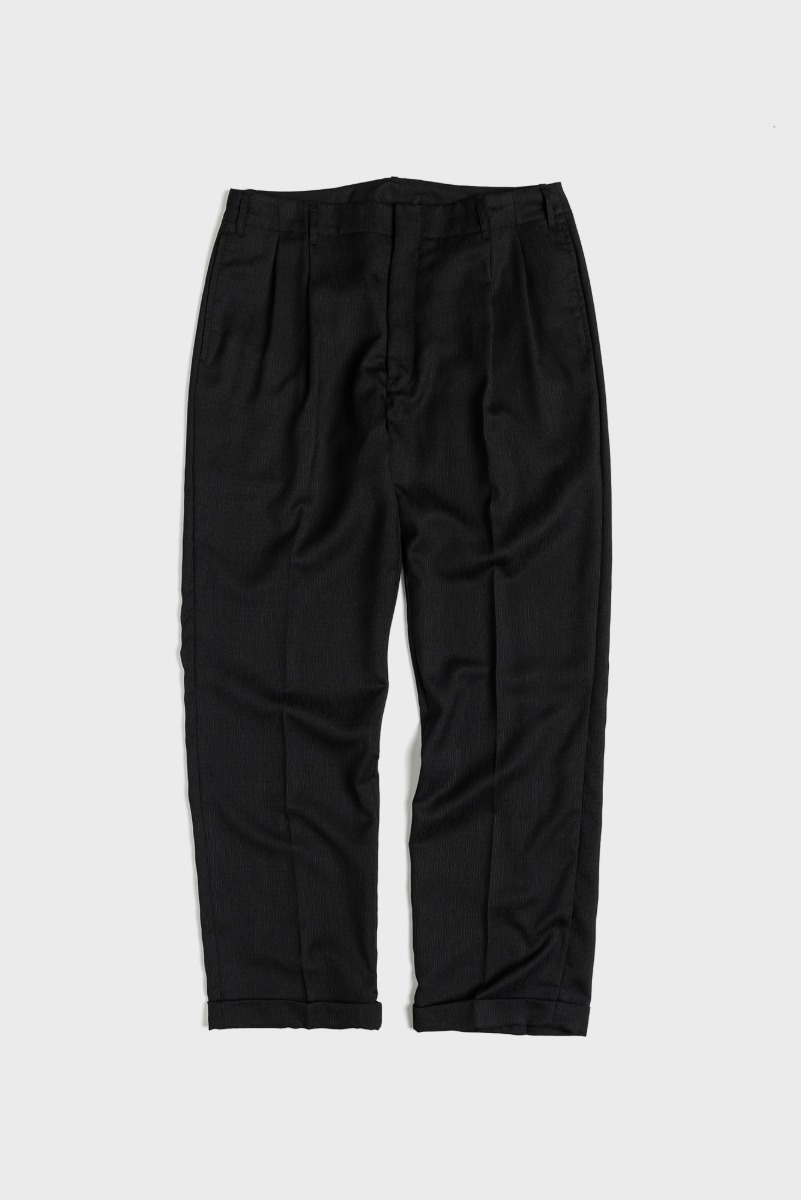 "UNAFFACTED Two Tuck Wide Pants ""Black"""