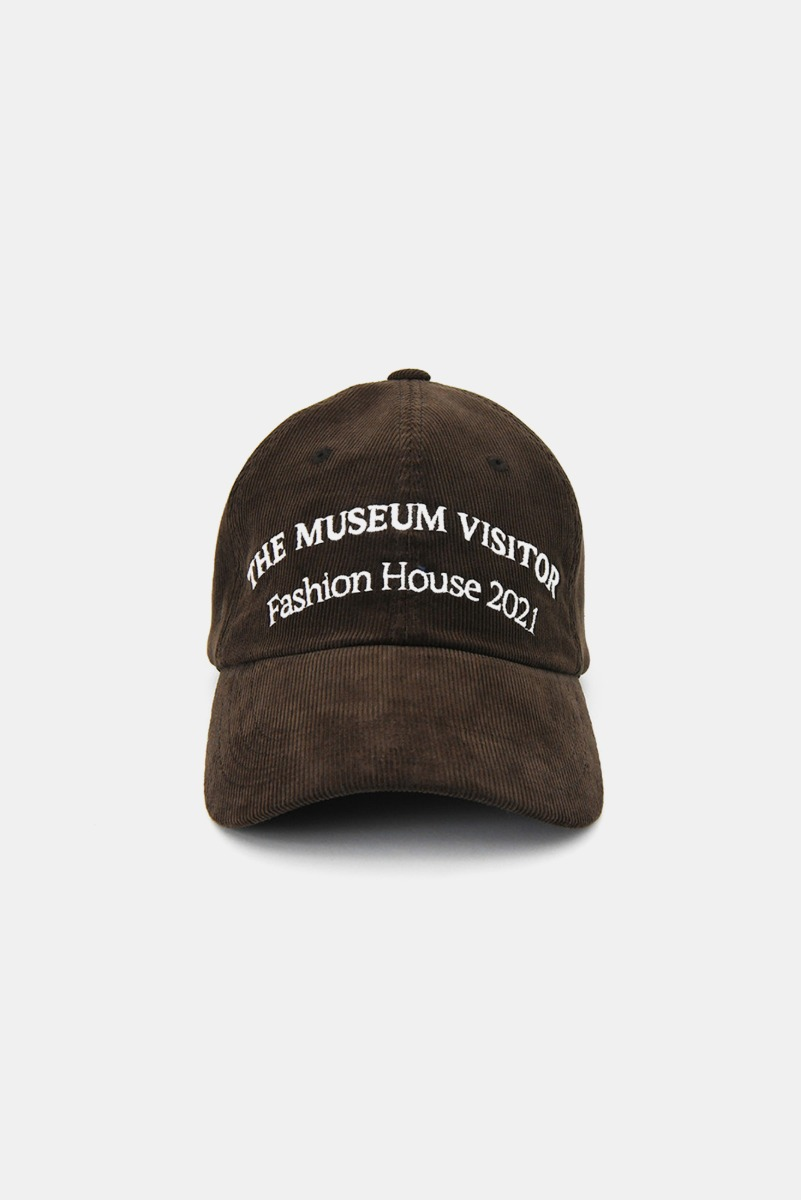 "THE MUSEUM VISITOR Corduroy Ball Cap ""Brown"""
