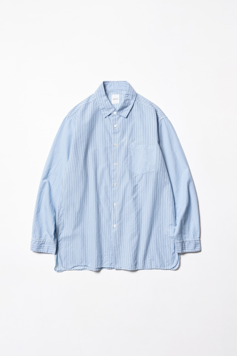 "SAGE DE CRET Regular collar long Shirt ""Sax"""