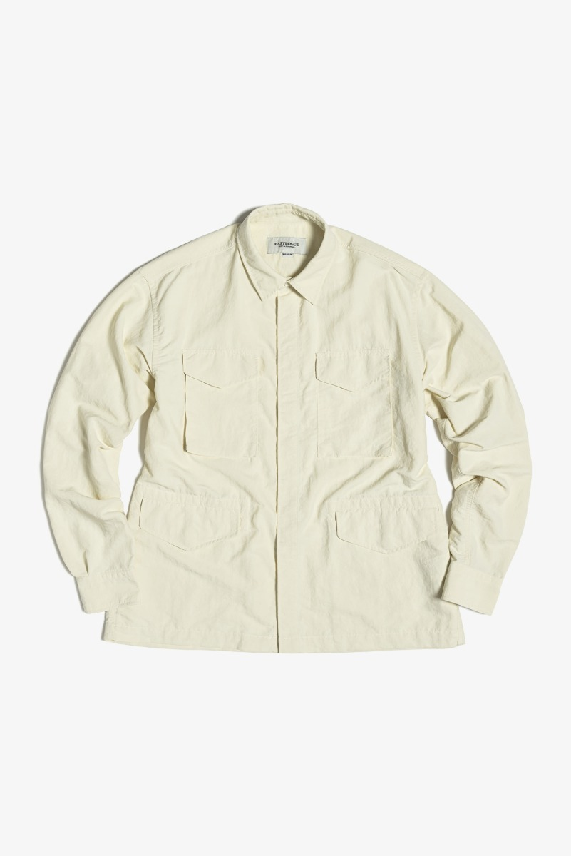 "EASTLOGUE M65 Shirt Jacket Nylon Washer ""Off White"""