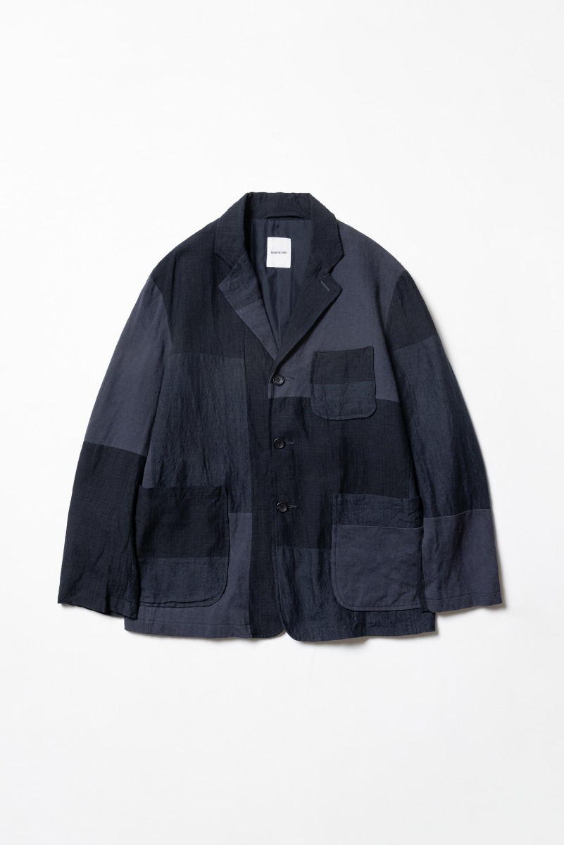 "SAGE DE CRET Patchwork tailored Jacket ""Navy"""