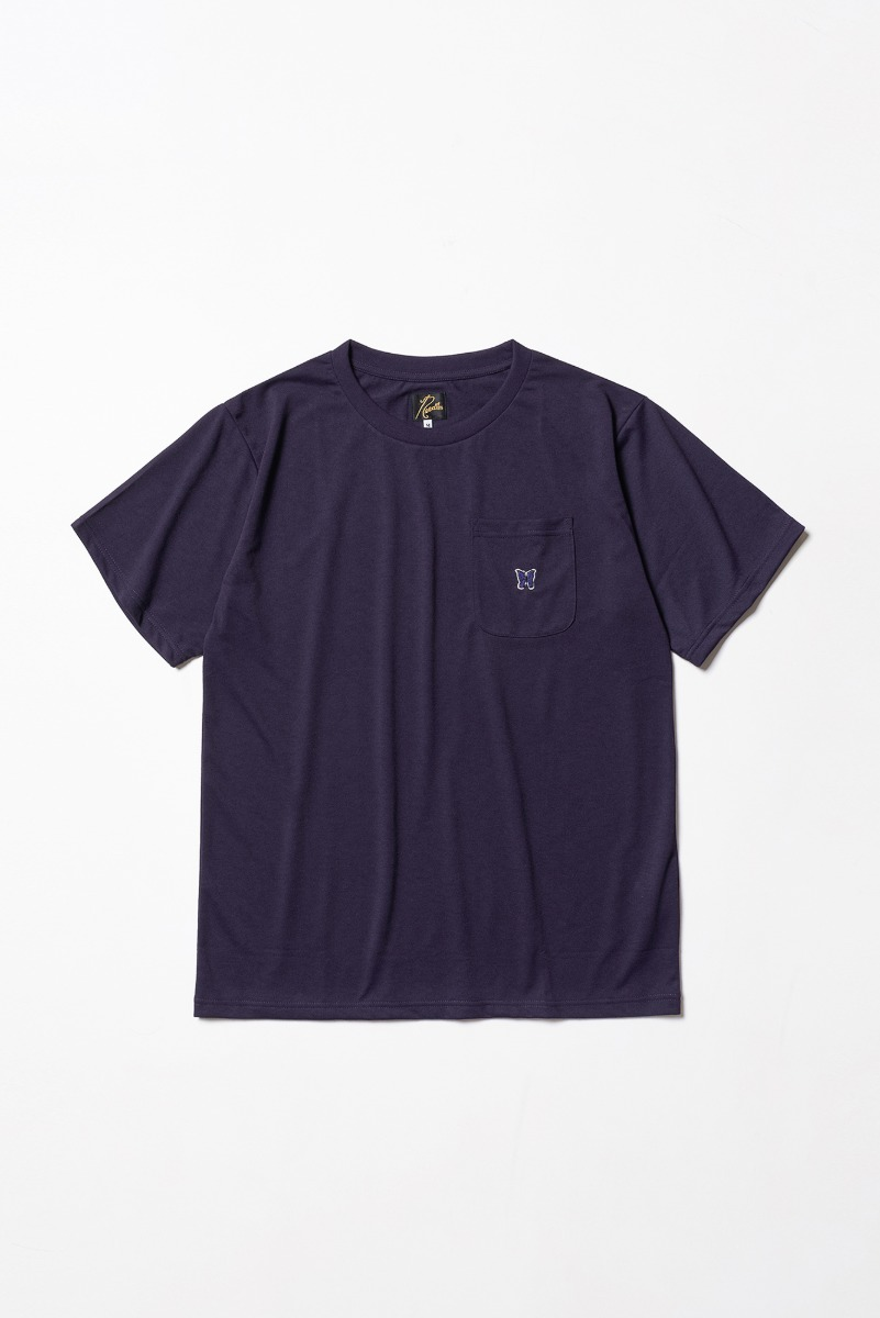 "Needles S/S Crew Neck Tee Poly Jersey ""Eggplant"""