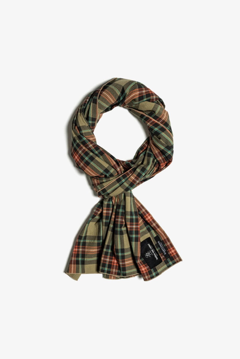 "EASTLOGUE Scarf Multi Check ""Beige"""