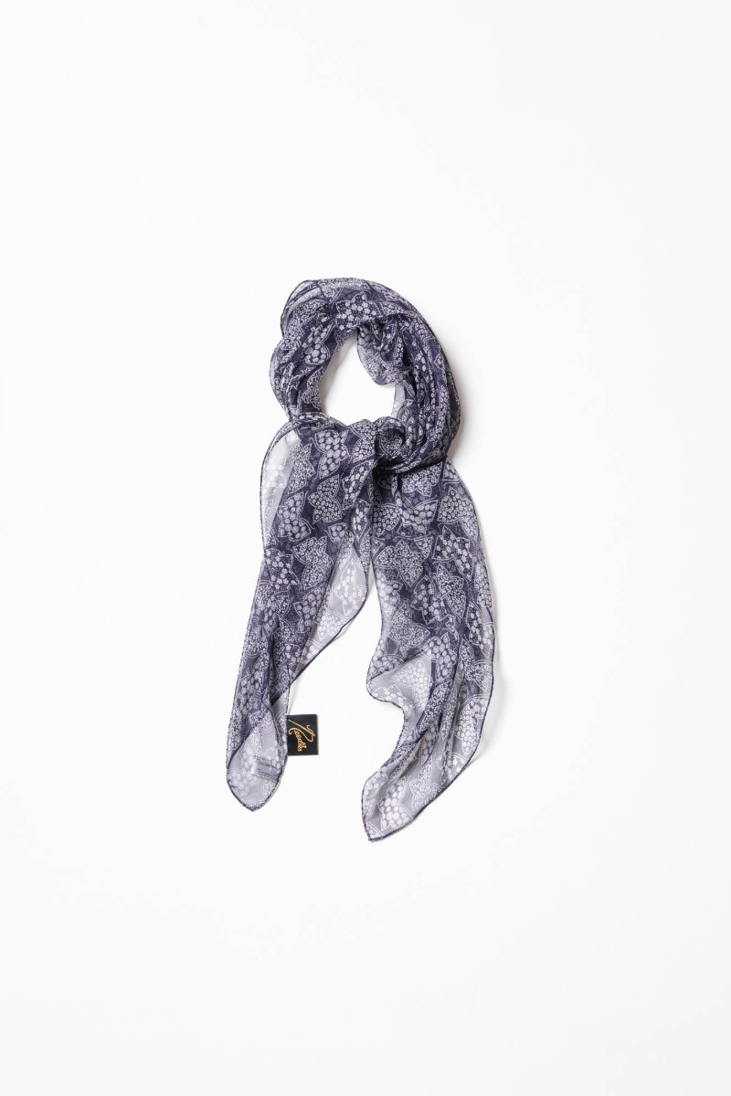 "Needles Scarf Silk Crepe / Papillon ""Purple"""
