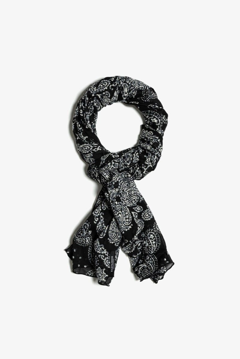 "EASTLOGUE Scarf Paisley ""Black """