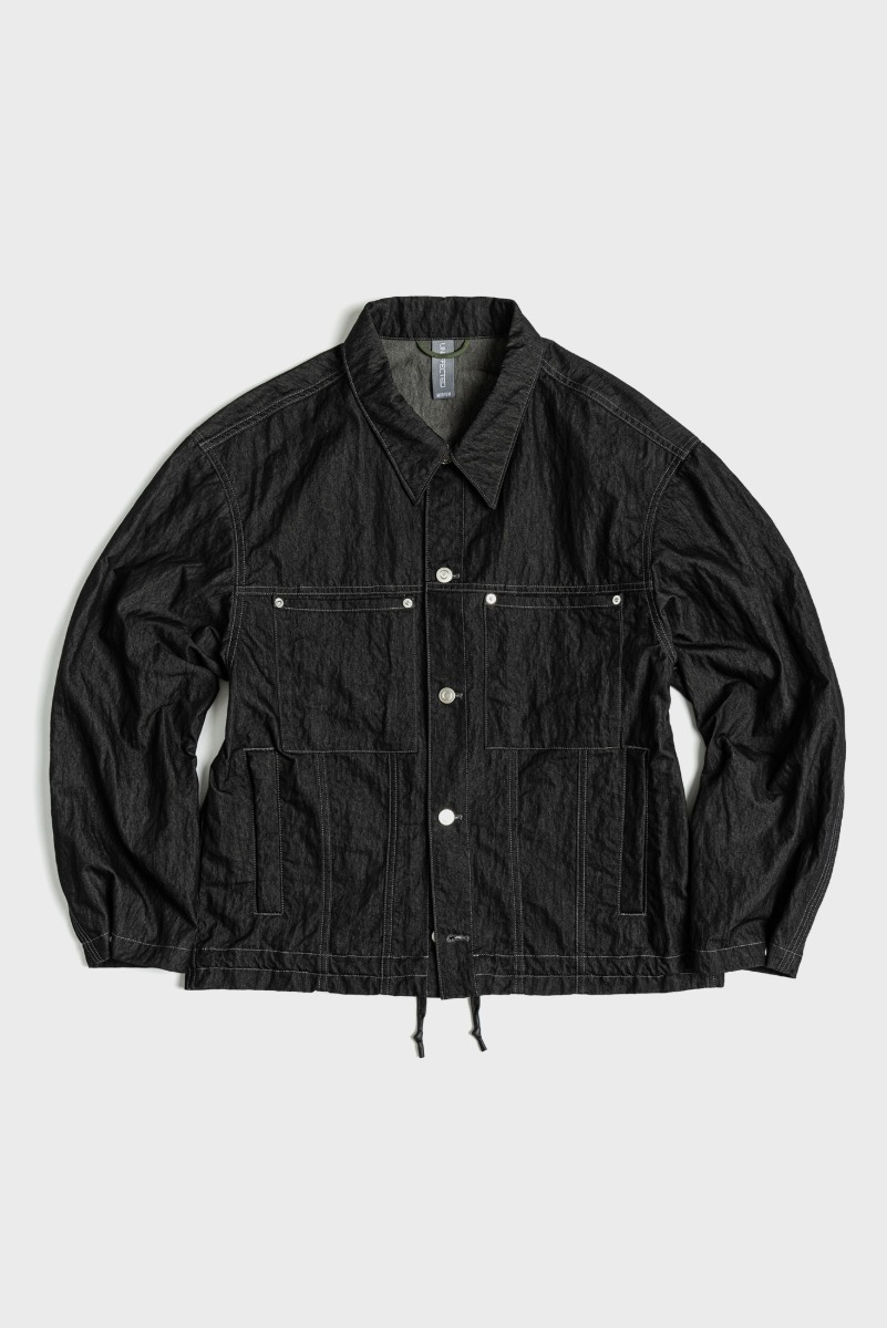 "UNAFFACTED Trucker Jacket ""Black"""