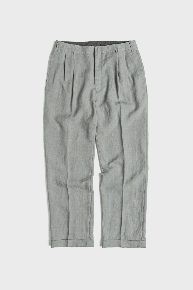 "UNAFFACTED Two Tuck Wide Pants ""Sage Green"""