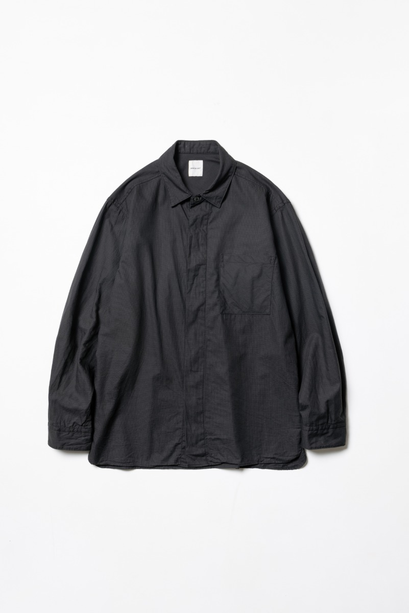 "SAGE DE CRET Fly front regular Shirt ""Charcoal"""