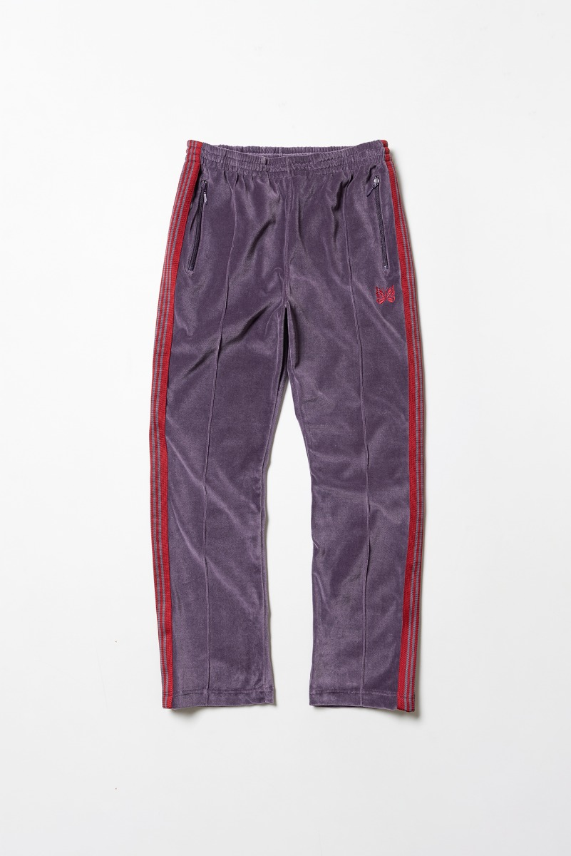 "Needles Narrow Track Pant C/Pe Velour ""Purple"""