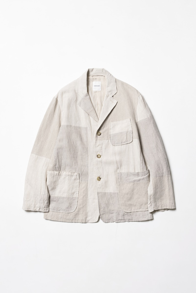 "SAGE DE CRET Patchwork tailored Jacket ""Natural"""