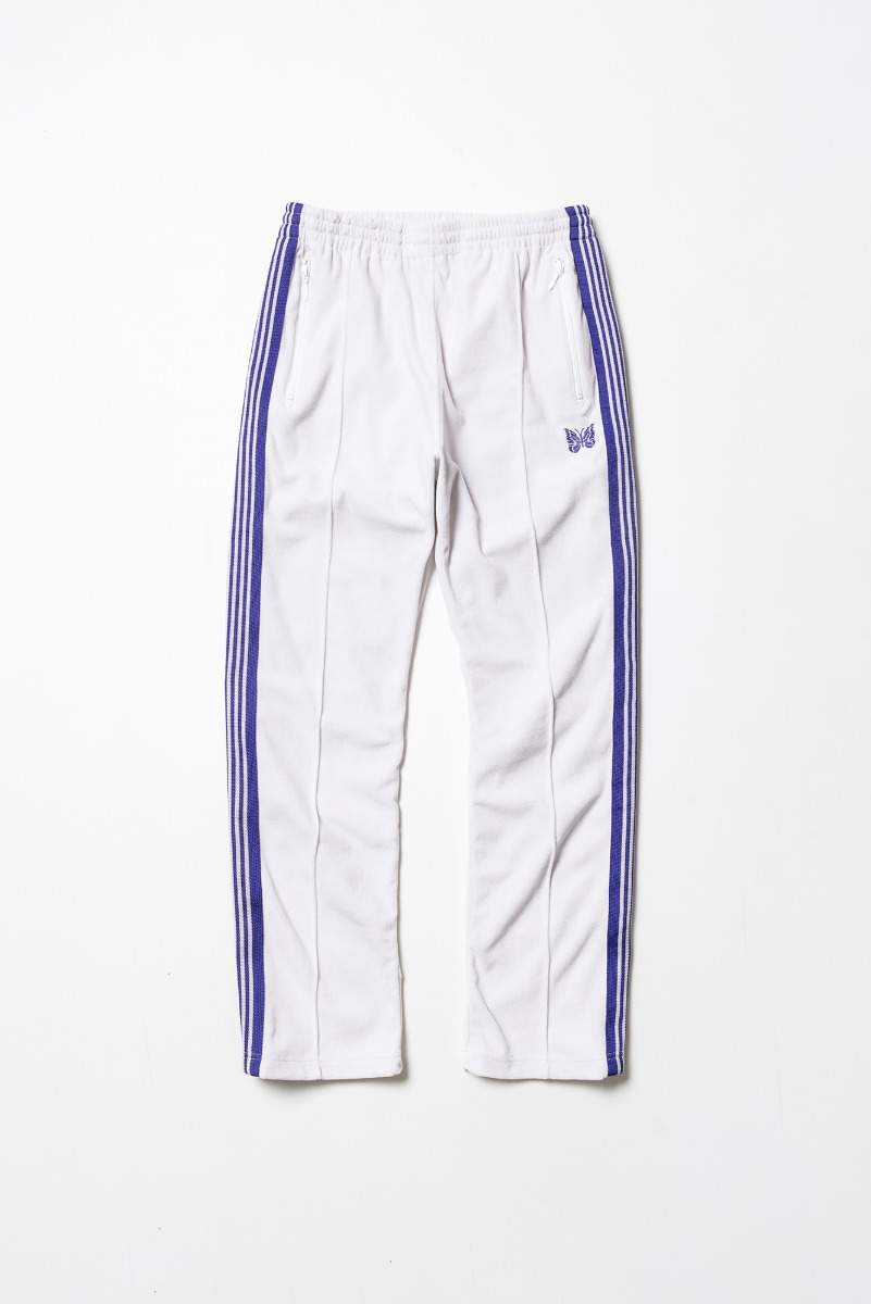 "Needles Narrow Track Pant C/Pe Velour ""White"""