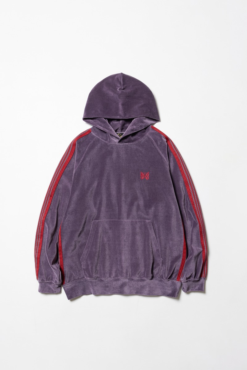 "Needles Track Hoody C/Pe Velour ""Purple"""