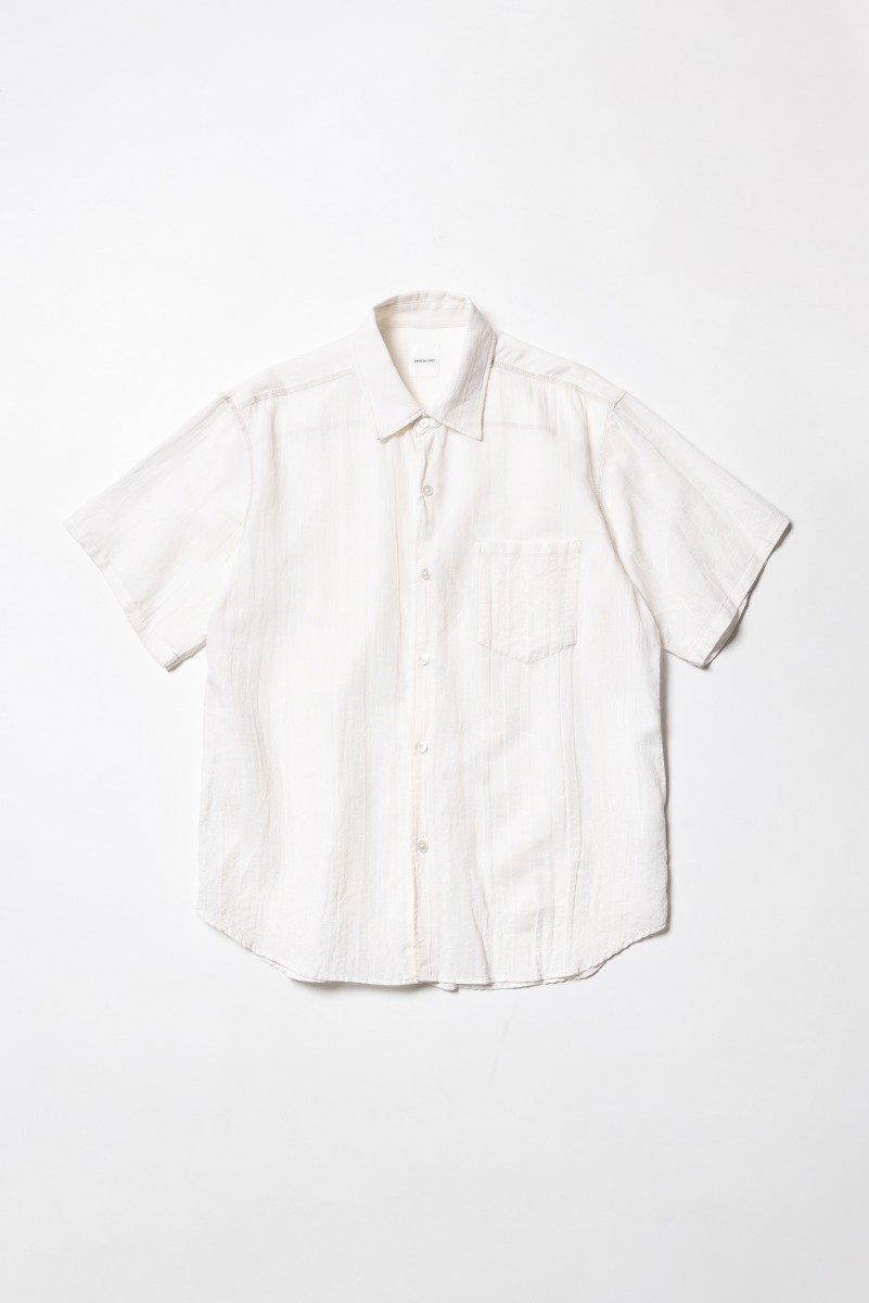 "SAGE DE CRET Short sleeve regular collar Shirt ""Off White"""