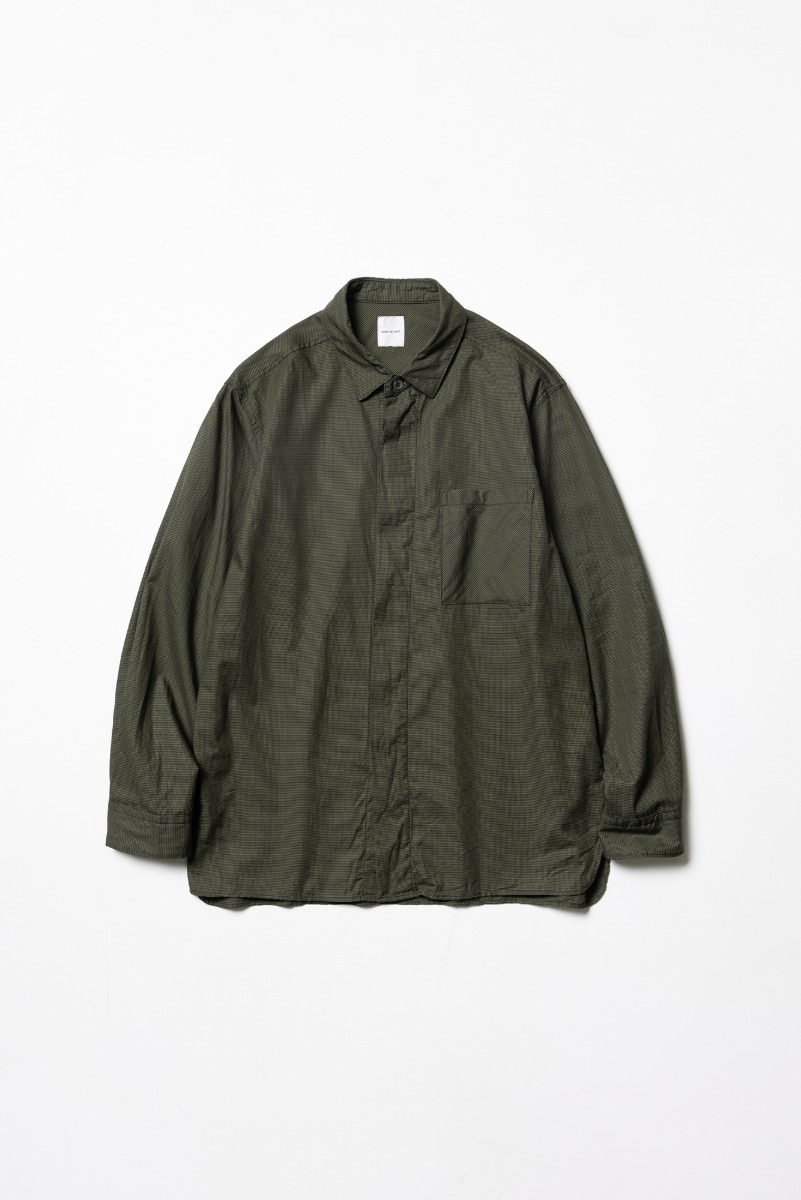 "SAGE DE CRET Fly front regular Shirt ""Khaki"""