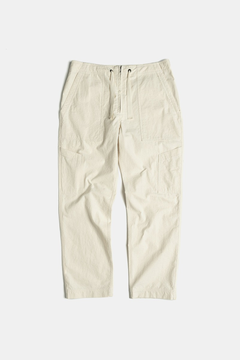 "EASTLOGUE Utilty Easy Pants ""Ecru"""