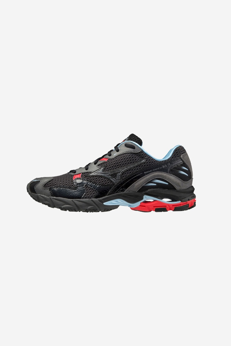 "MIZUNO WAVE RIDER 10 SPORT-LUXURY (TONAL) ""Nimbus Cloud / Red orange"""