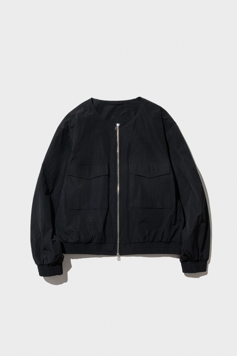 "Nocle Collarless Wep Jacket ""Black"""