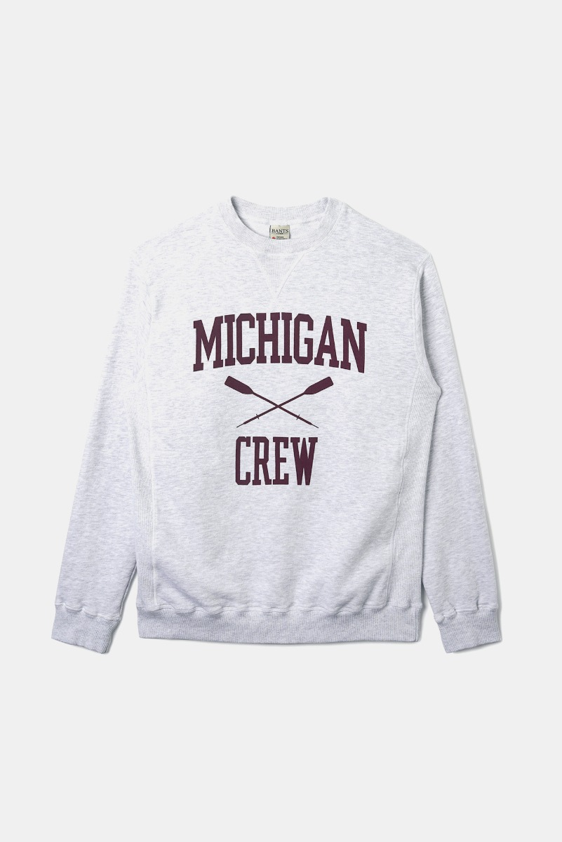 "BANTS OPD Cotton Crew Sweatshirt Michigan Crew ""Off White"""