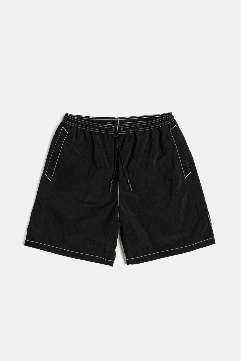 "UNAFFACTED Logo Label Swim Shorts ""Black"""
