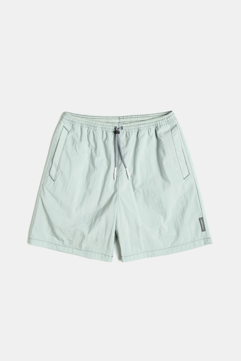 "UNAFFACTED Logo Label Swim Shorts ""Misty Mint"""