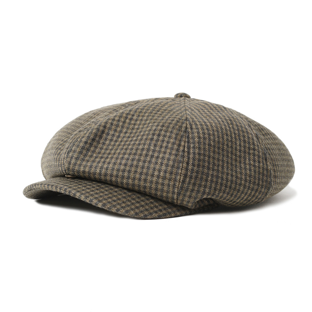 "Gooseberry Lay & Co. 20's News Boy Cap ""Vintage Block Check Wool"""