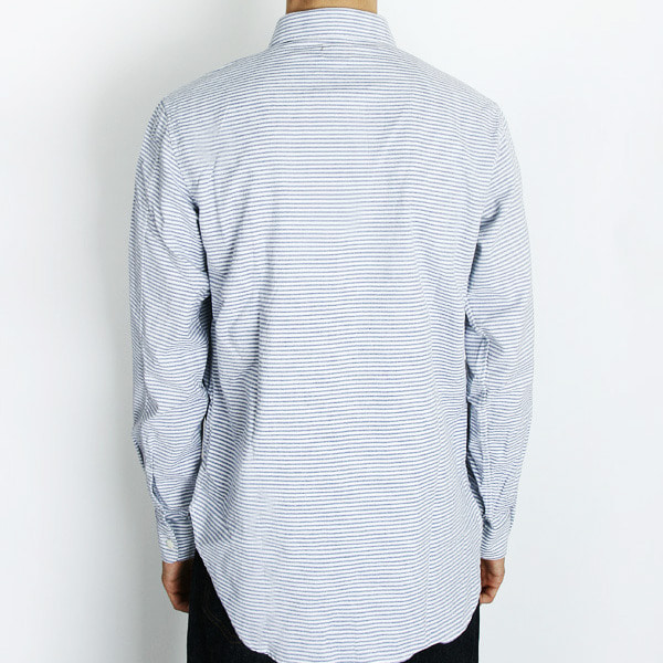 "Gooseberry Lay & Co. Alfred Cataway Round Tip Collar Shirts ""Horizontal Stripe"""
