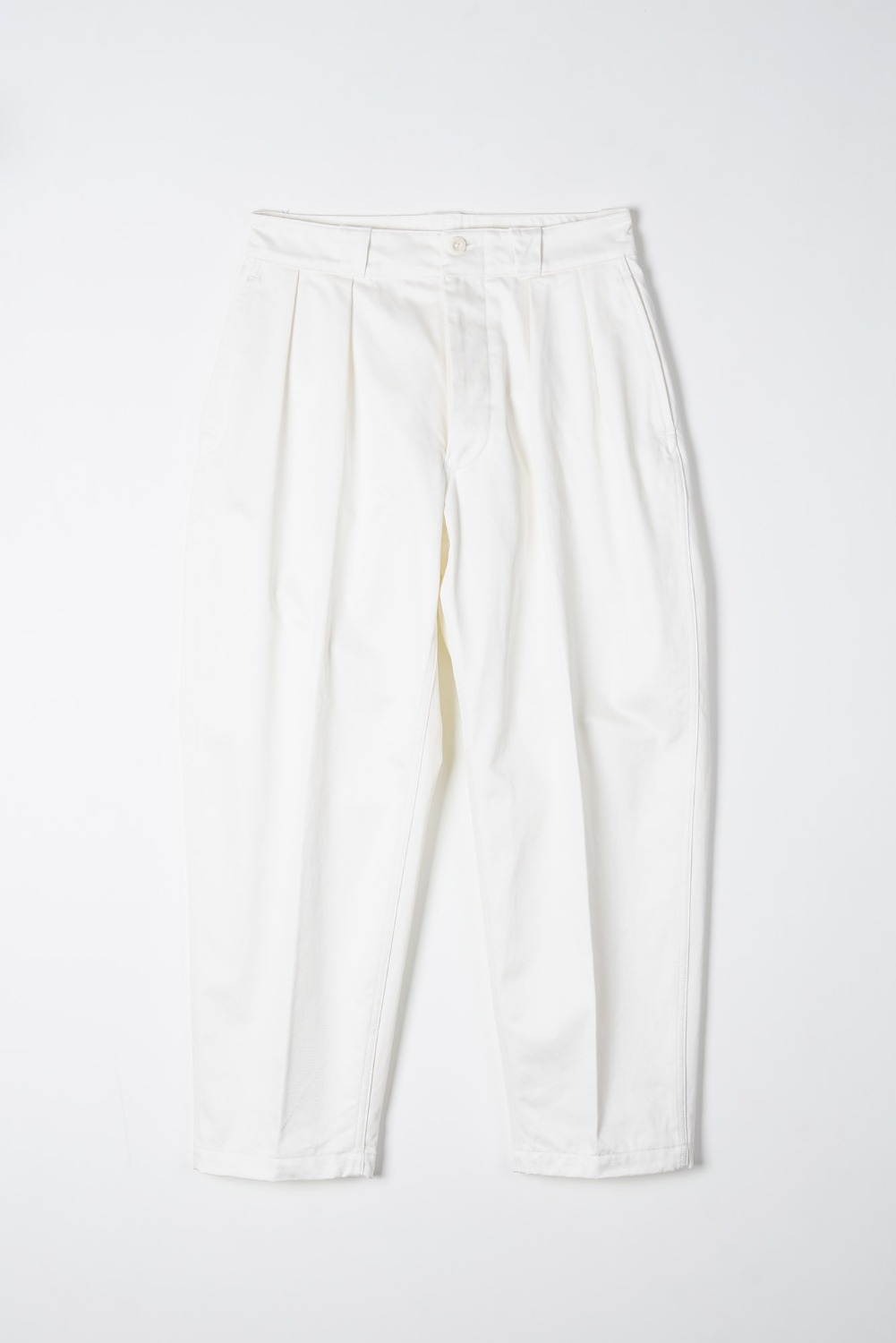 "KAPTAIN SUNSHINE 2Pleats Tapered Trousers ""White"""