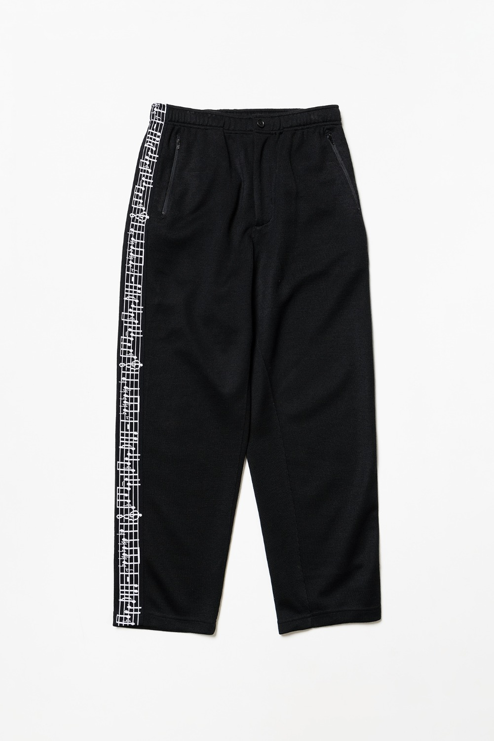 "ENGINEERED GARMENTS Jog Pant w/Tape ""Black Tri Blend Jersey Knit"""